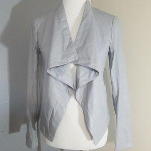 BB Dakota Grey Leather jacket S